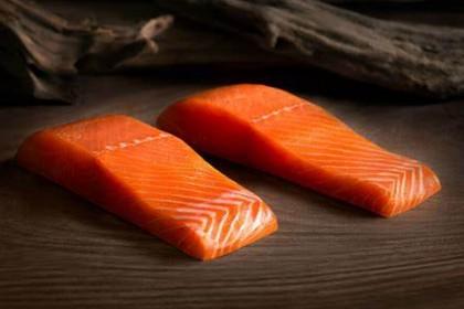 Frozen Salmon Fillet Portion Cut