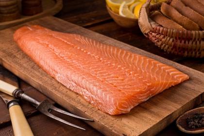 Frozen Salmon Fillet V-Pack (Whole)